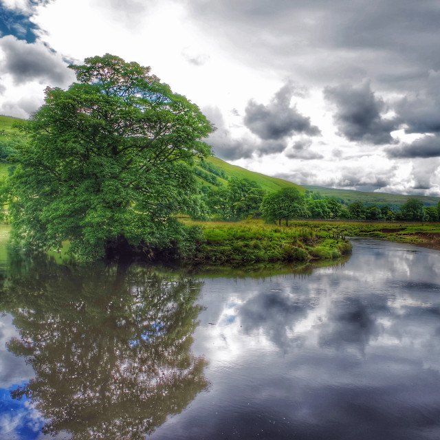 """The River Wharfe, Yorkshire"" stock image"