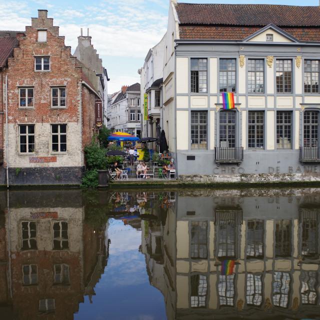 """""""Waterside, Ghent, Flanders"""" stock image"""