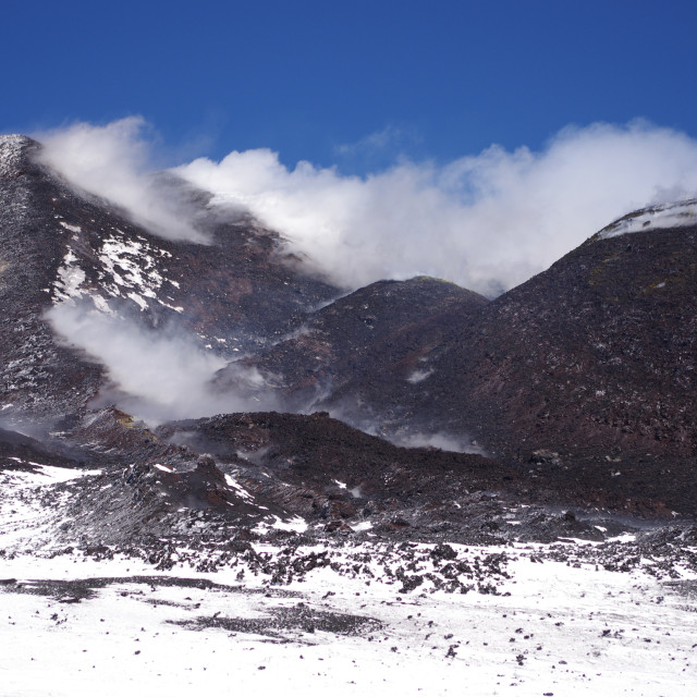 """Mount Etna, Sicily"" stock image"