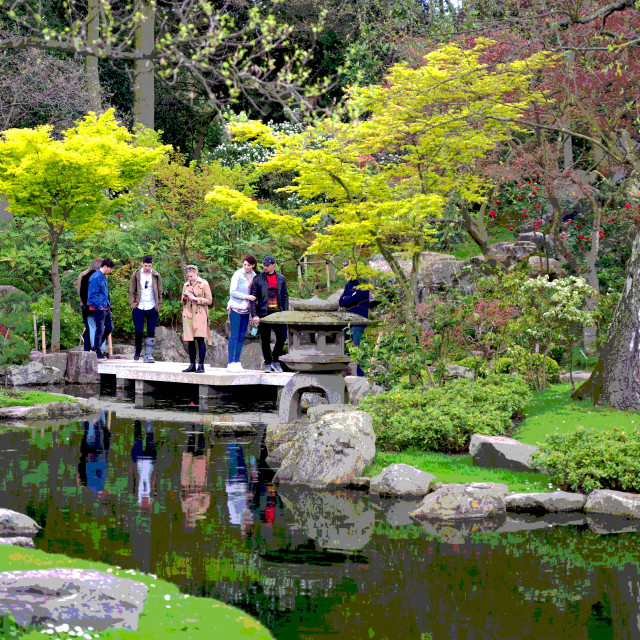 """The Kyoto Garden, London"" stock image"