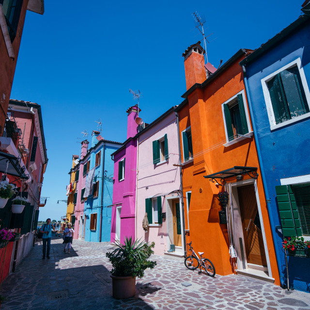 """Burano Streets"" stock image"