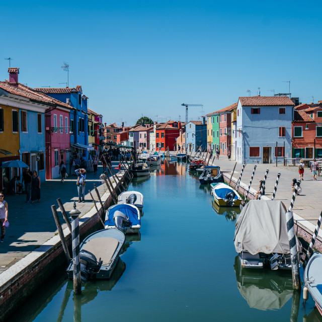"""Burano Canal"" stock image"
