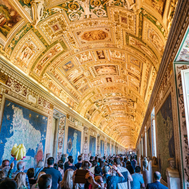 """""""Vatican Hallway"""" stock image"""