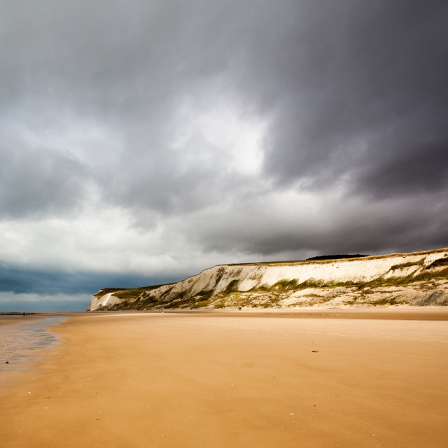 """Stormy Weather at Cap Blanc Nez"" stock image"