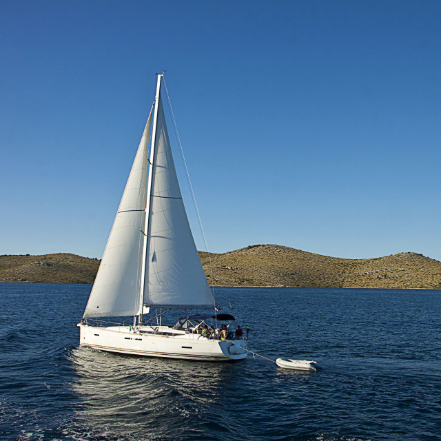 """Sailboat at Kornati islands"" stock image"