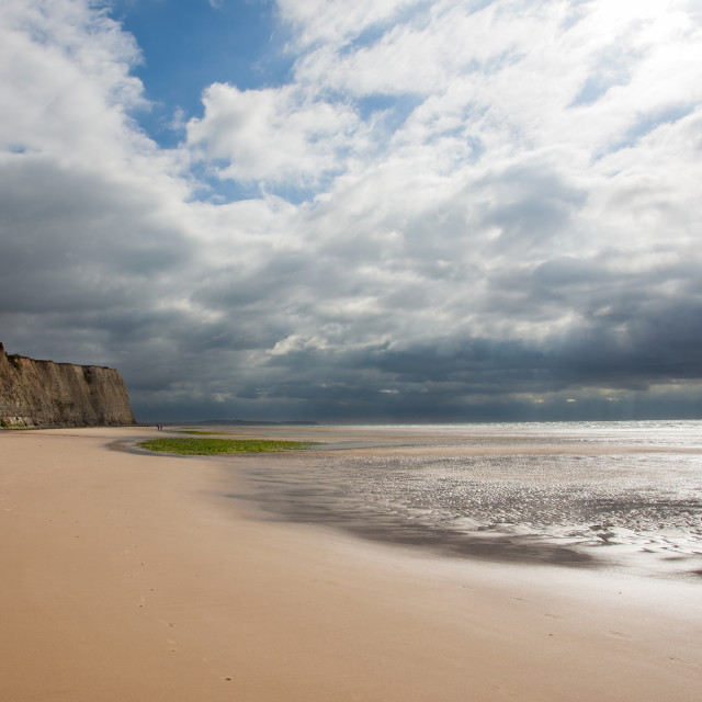"""Tide at Cap Blanc Nez"" stock image"