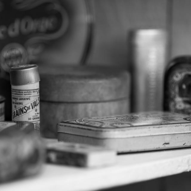 """Vintage Tins"" stock image"