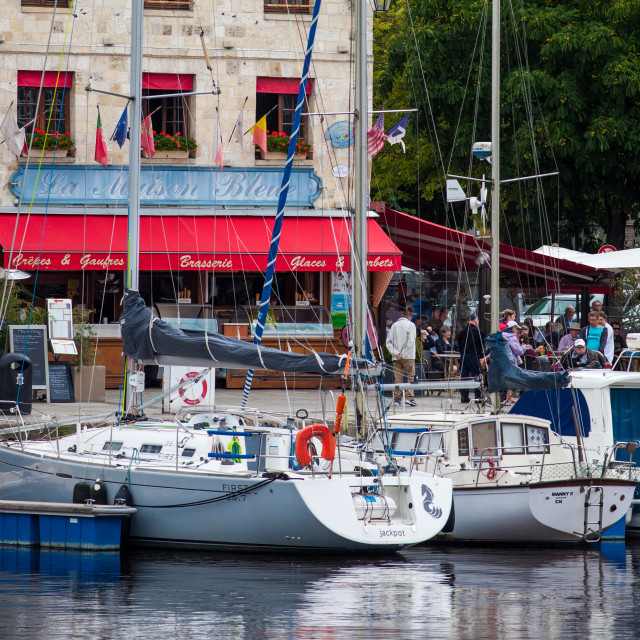 """Honfleur Port"" stock image"