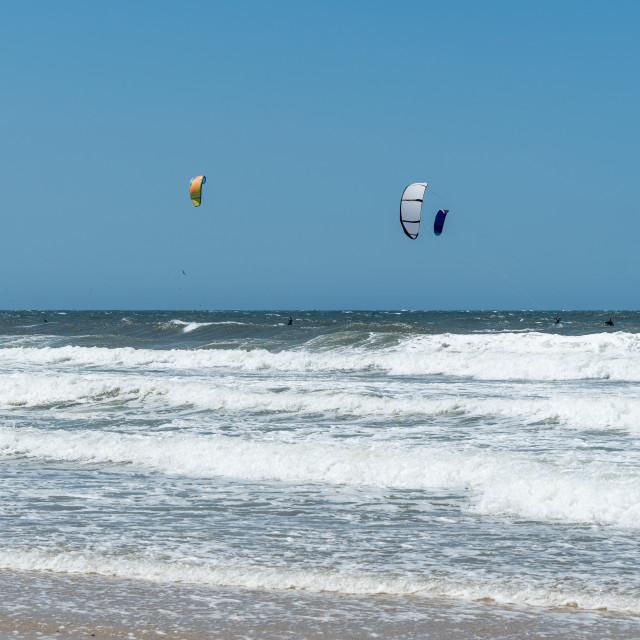 """""""Kite Surfers"""" stock image"""