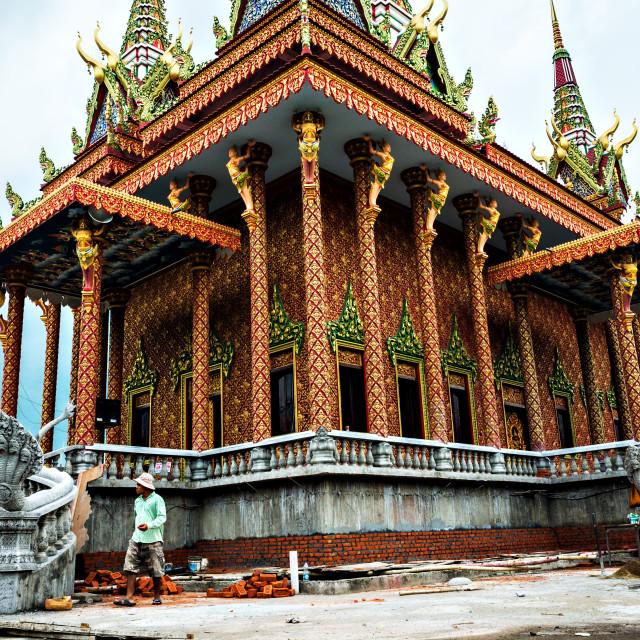 """""""Combodian Monastery"""" stock image"""