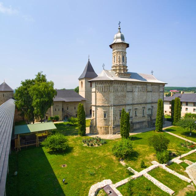 """Dragomirna fortified monastery"" stock image"