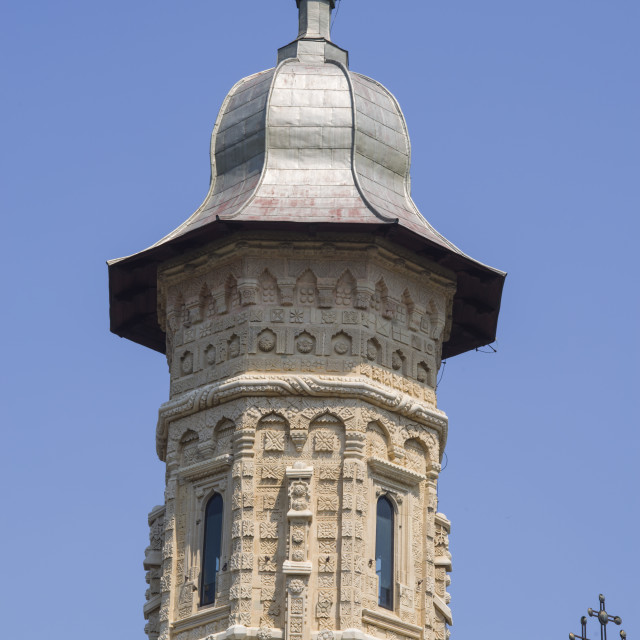"""Churchbell tower of Dragomirna Monastery"" stock image"