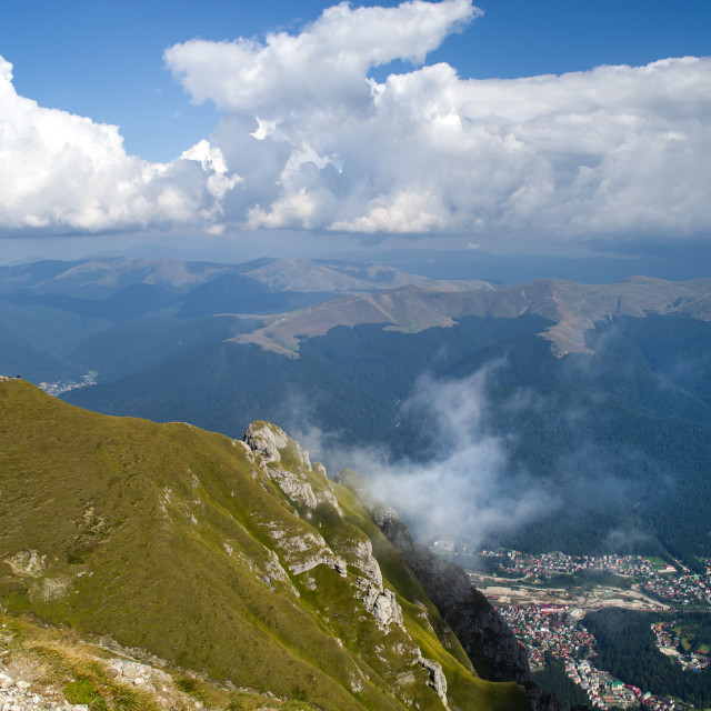"""""""Mountain resort from the top"""" stock image"""