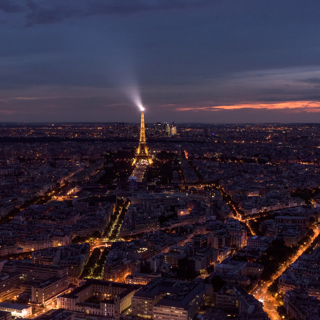 """Paris at night"" stock image"