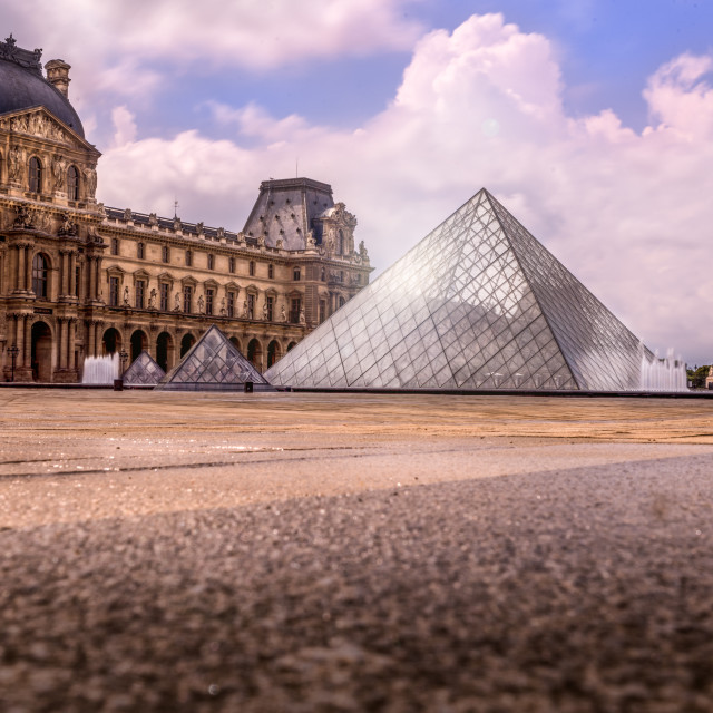"""The Louvre Museum, Paris."" stock image"