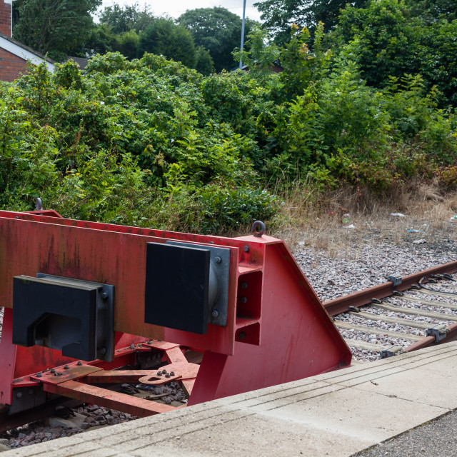 """Buffer Stop"" stock image"