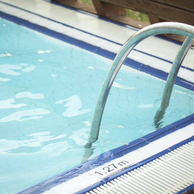 """Swimming pool holiday"" stock image"