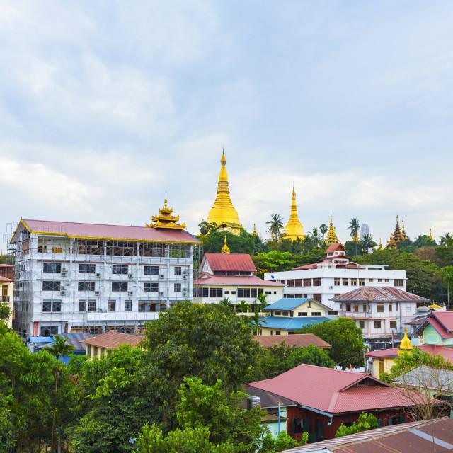 """""""Shwedagon Pagoda of Myanmar"""" stock image"""
