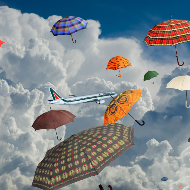 """""""Over the clouds."""" stock image"""