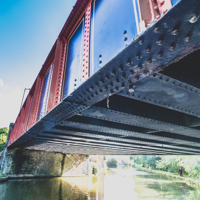 """""""Bridge over the canal, Berkhamsted"""" stock image"""