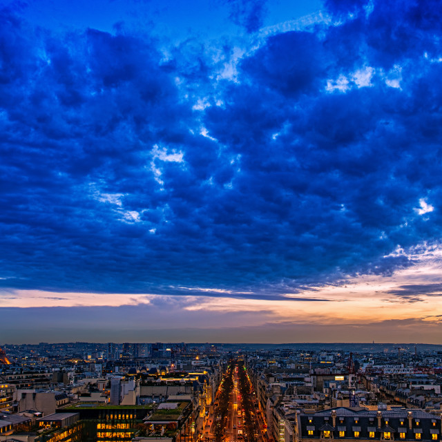 """""""Eiffel Tower at Blue Hour"""" stock image"""