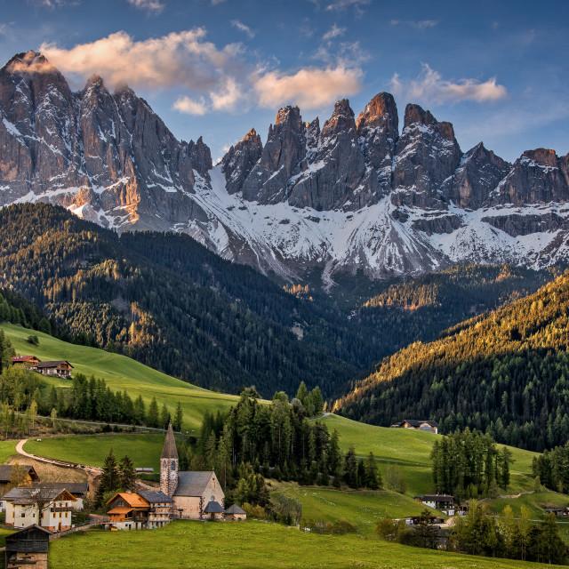 """""""Santa maddalena, Dolomites, Italy"""" stock image"""