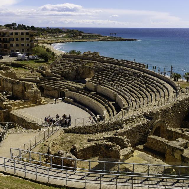 """Roman Amphitheatre."" stock image"