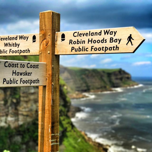 """""""Cleveland Way"""" stock image"""
