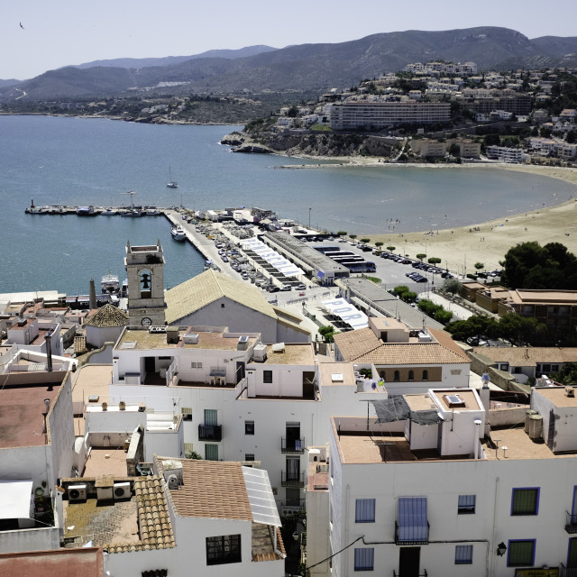 """Spanish City Harbour."" stock image"