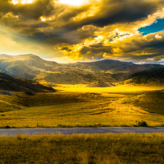 """""""Enlighted valley"""" stock image"""