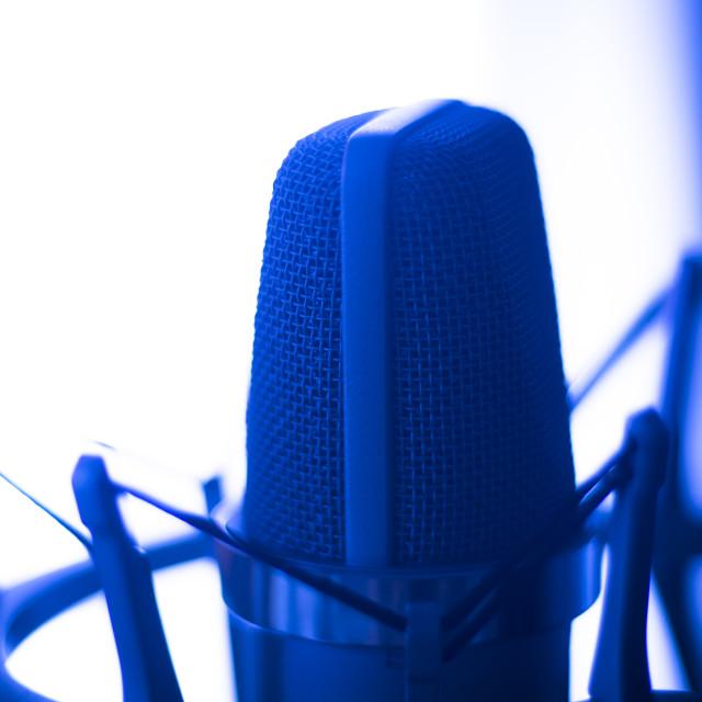 """Studio voiceover microphone"" stock image"
