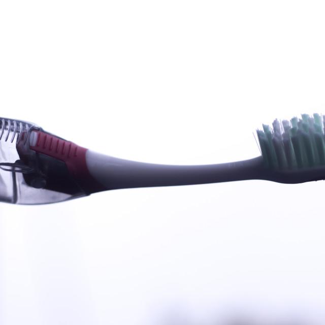 """""""Manual dental toothbrush"""" stock image"""