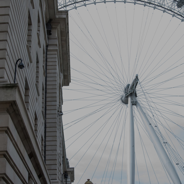 """County Hall and the London Eye"" stock image"