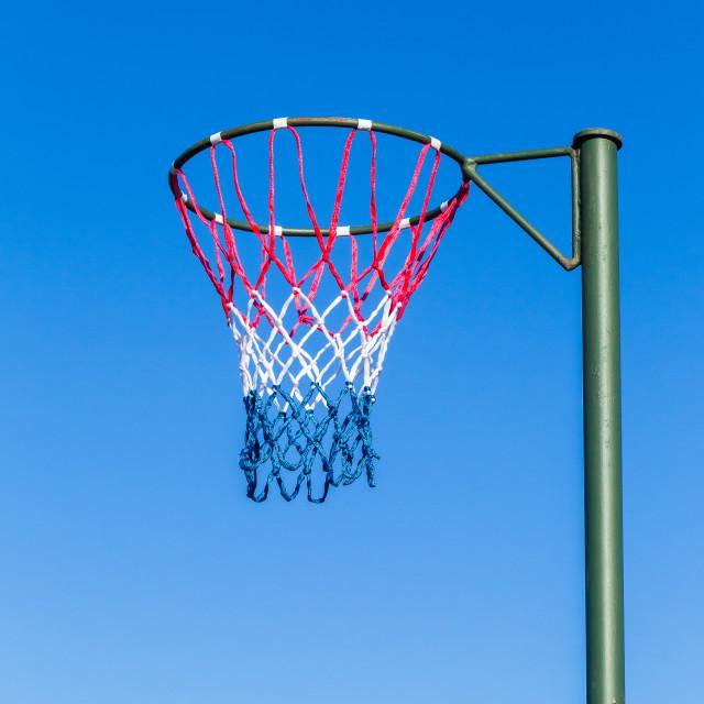 """Netball Net Hoop Pole Outdoors"" stock image"
