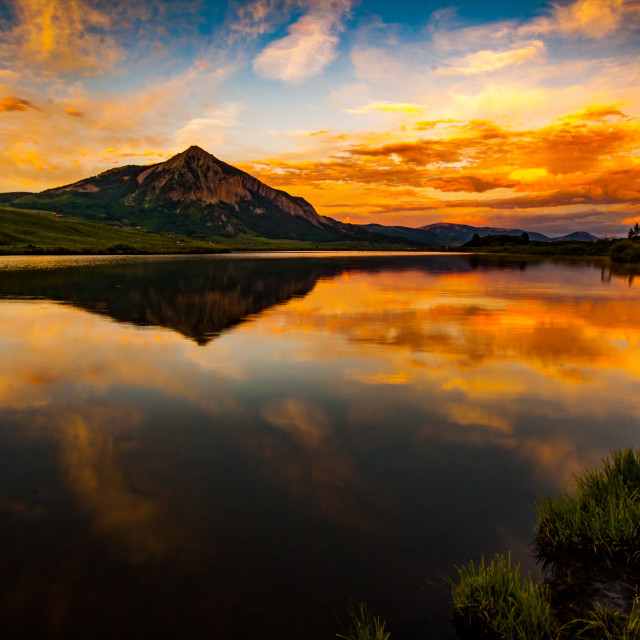 """Sunset at Peanut lake"" stock image"