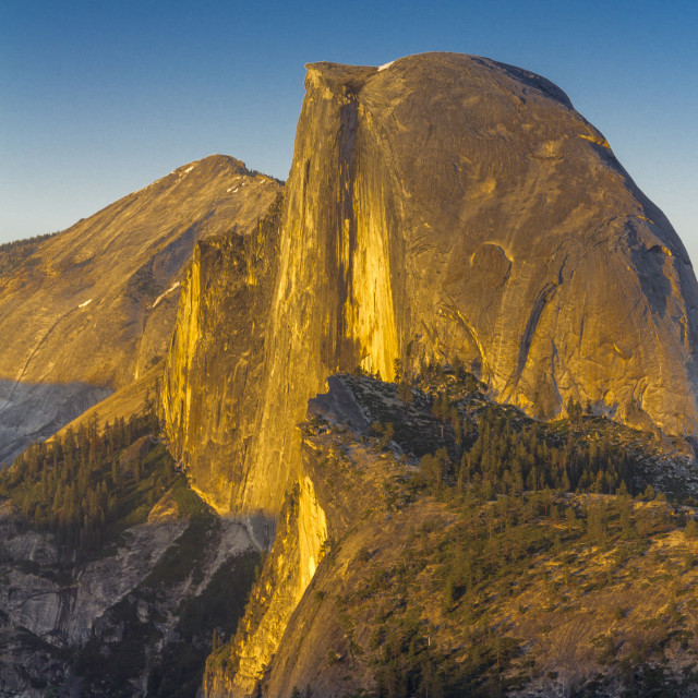 """Sunset at Half Dome, Yosemite National Park"" stock image"