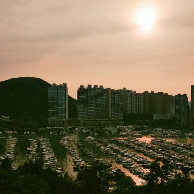 """The Aberdeen Marina Club, Hong Kong"" stock image"