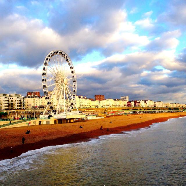 """Seaside Brighton"" stock image"