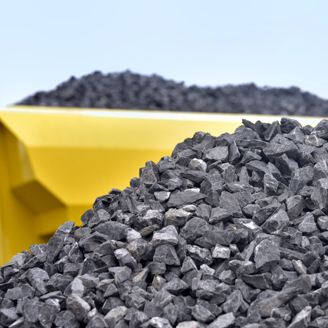 """""""Raw materials crushed stones"""" stock image"""