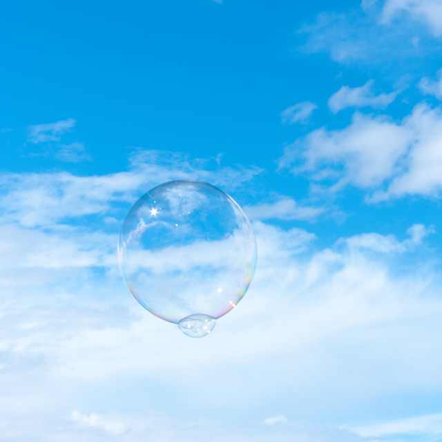 """Bubble floating upwards"" stock image"
