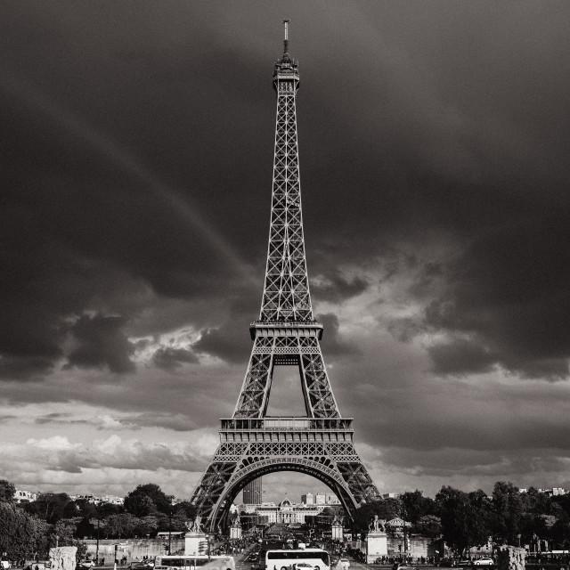 """Eiffel Tower Rainbow"" stock image"