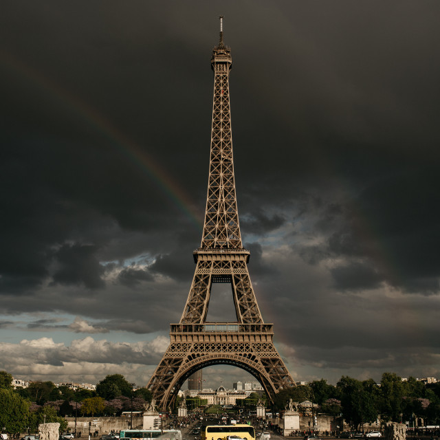 """Eiffel Tower Rainbows"" stock image"