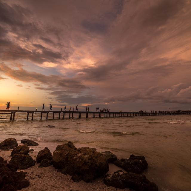 """City Pier- Anna Maria Island"" stock image"