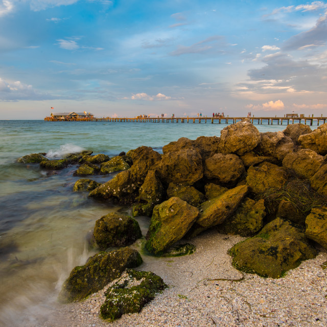 """City Pier Anna Maria Island Beach View"" stock image"