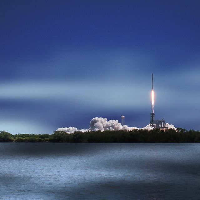 """Falcon 9 Lift Off"" stock image"