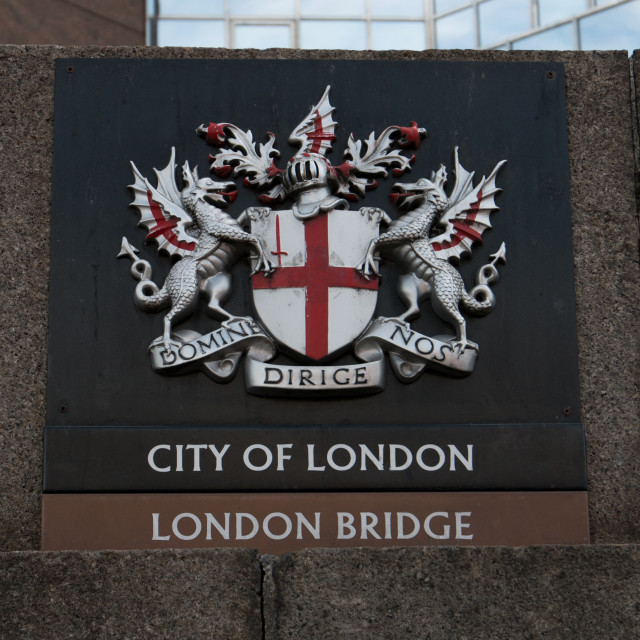"""Boundary Marker, London Bridge"" stock image"