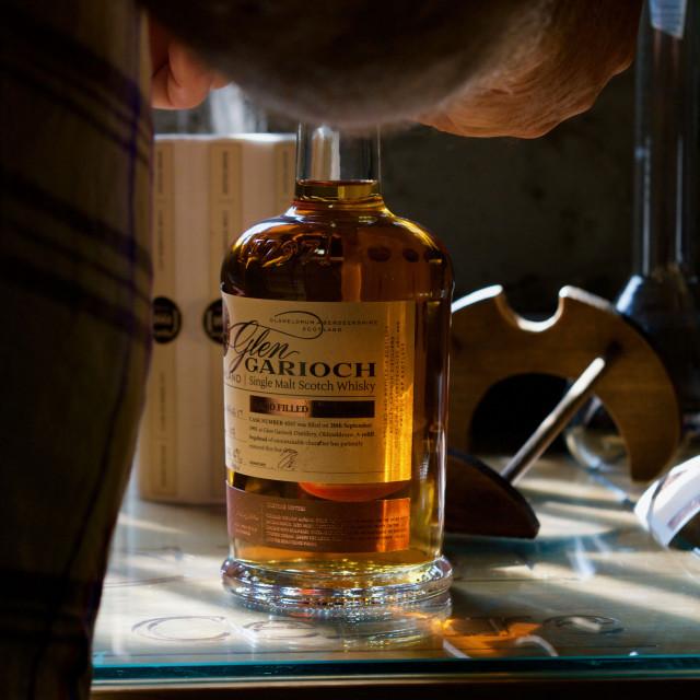 """Hand bottled Single Malt Scotch Whisky"" stock image"