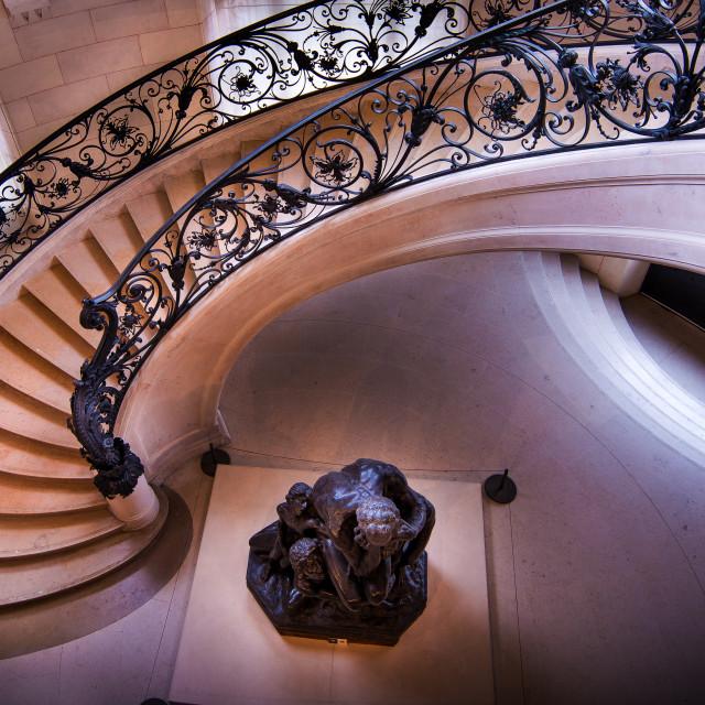 """""""Petit Palais' staircase, Paris"""" stock image"""