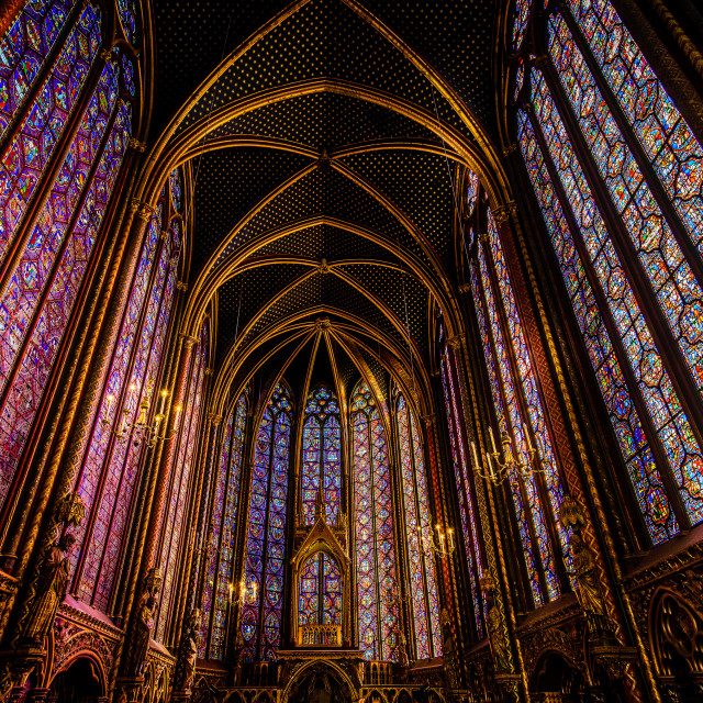 """Sainte Chapelle Church, Paris, France"" stock image"
