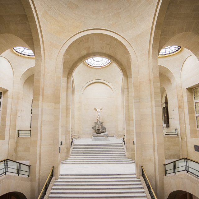 """""""The Louvre Museum - Samothrace Victory"""" stock image"""